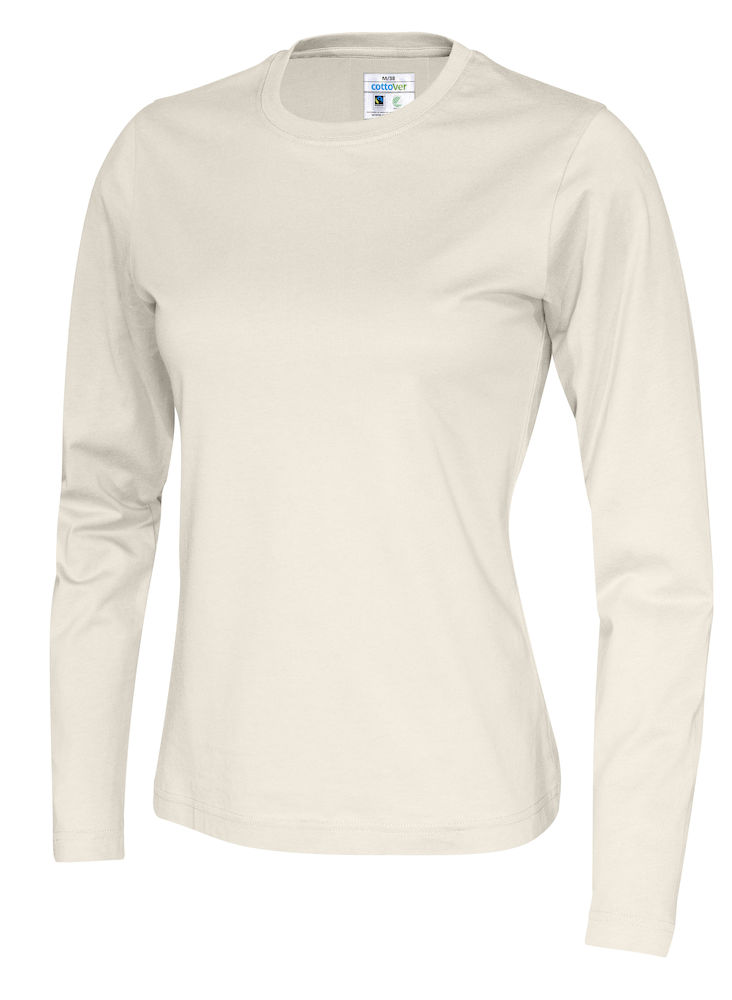 141019 CottoVer T-shirt lady lange mouw off white