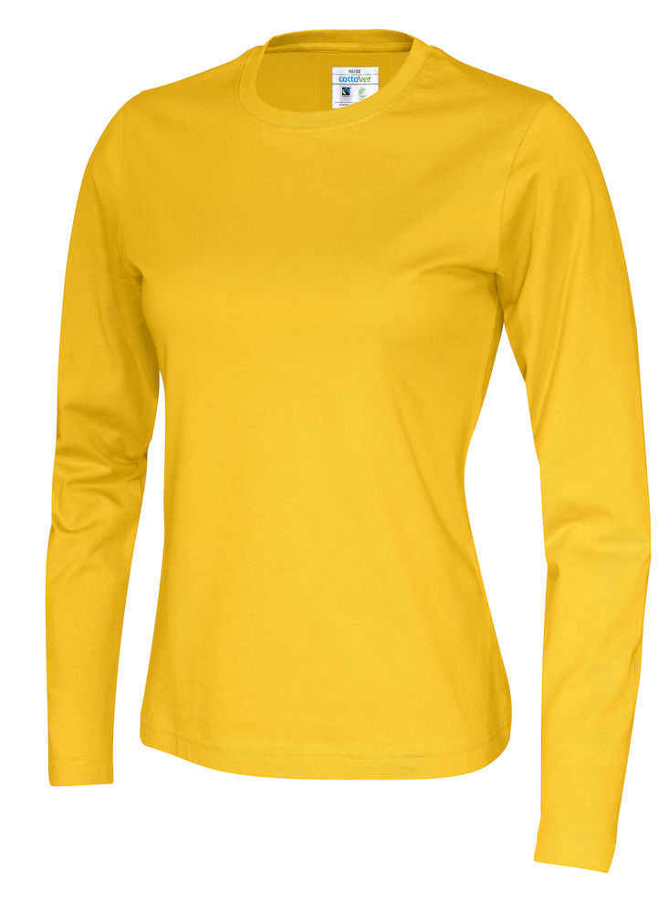 141019 CottoVer T-shirt lady lange mouw yellow