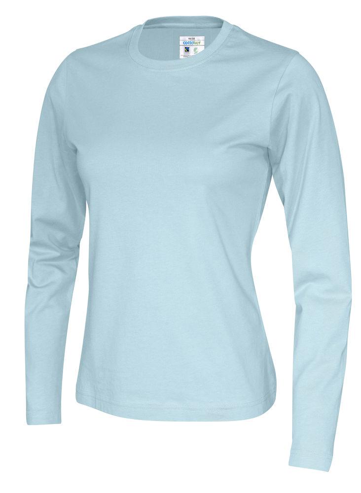 141019 CottoVer T-shirt lady lange mouw sky blue