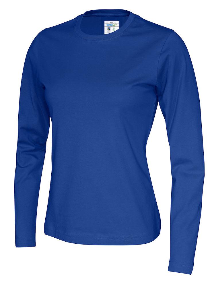141019 CottoVer T-shirt lady lange mouw royal