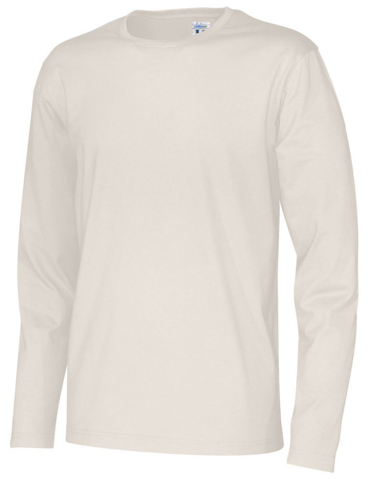 141020 CottoVer T-shirt Man lange mouw off white