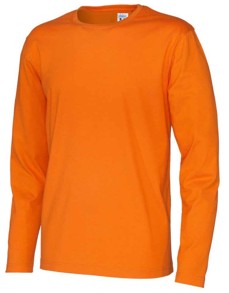 141020 CottoVer T-shirt Man lange mouw orange