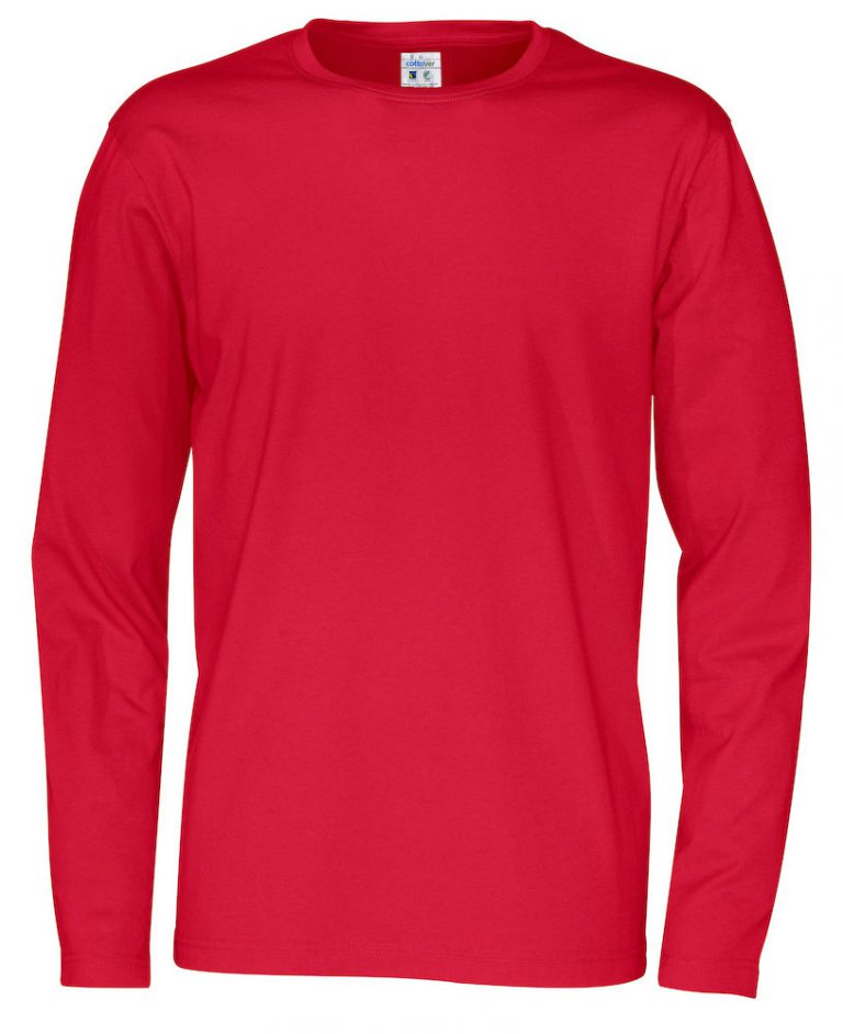 141020 CottoVer T-shirt Man lange mouw red