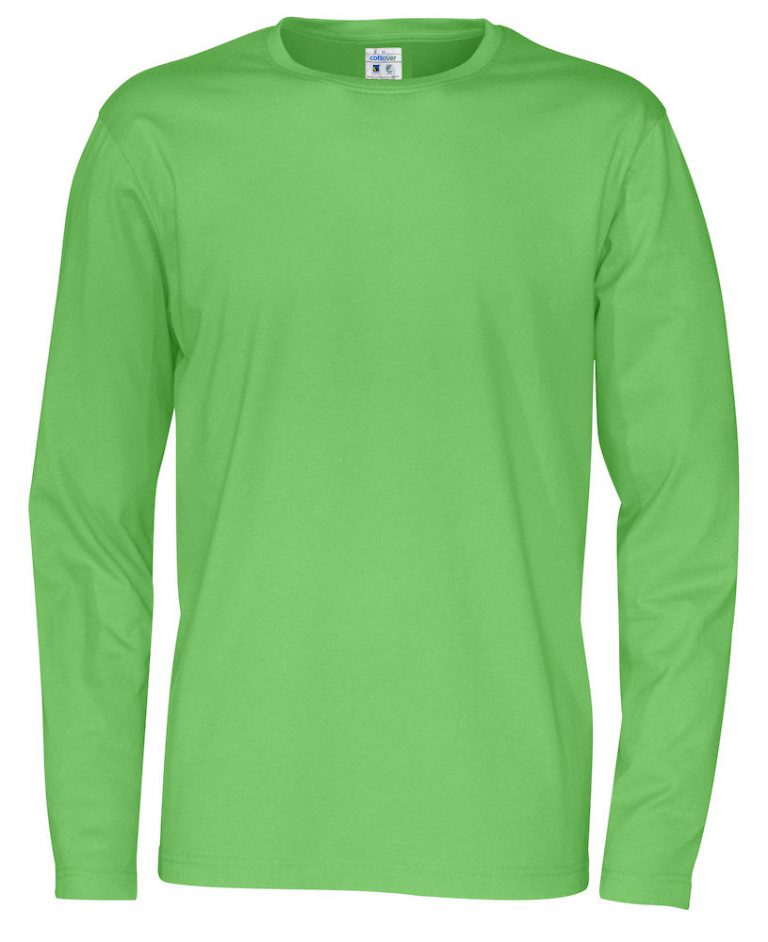141020 CottoVer T-shirt Man lange mouw green