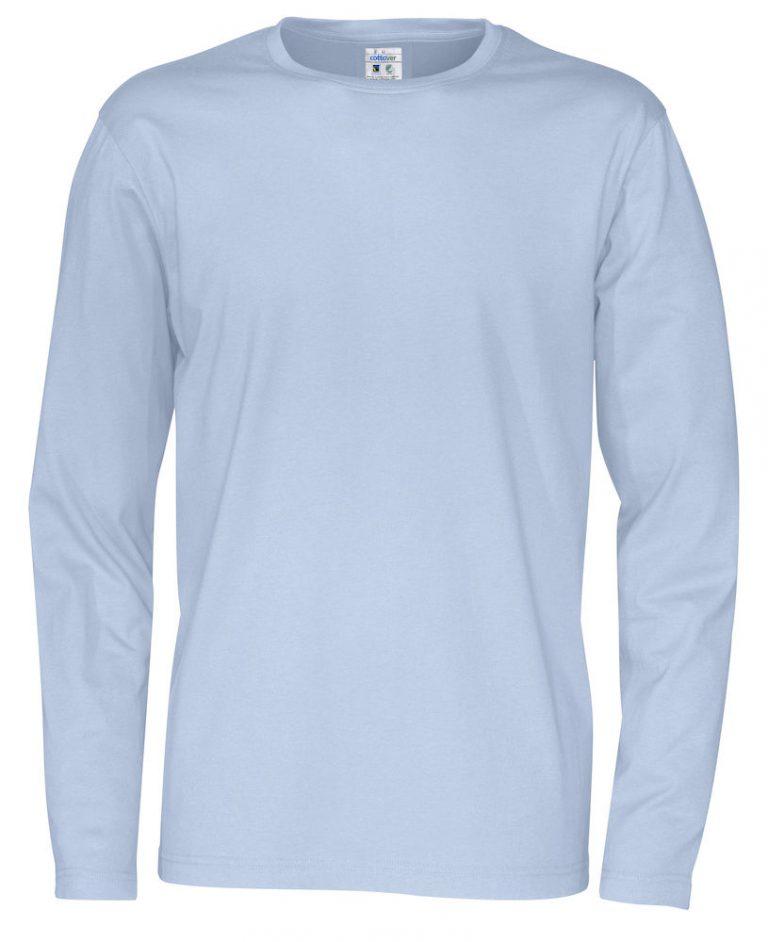 141020 CottoVer T-shirt Man lange mouw sky blue