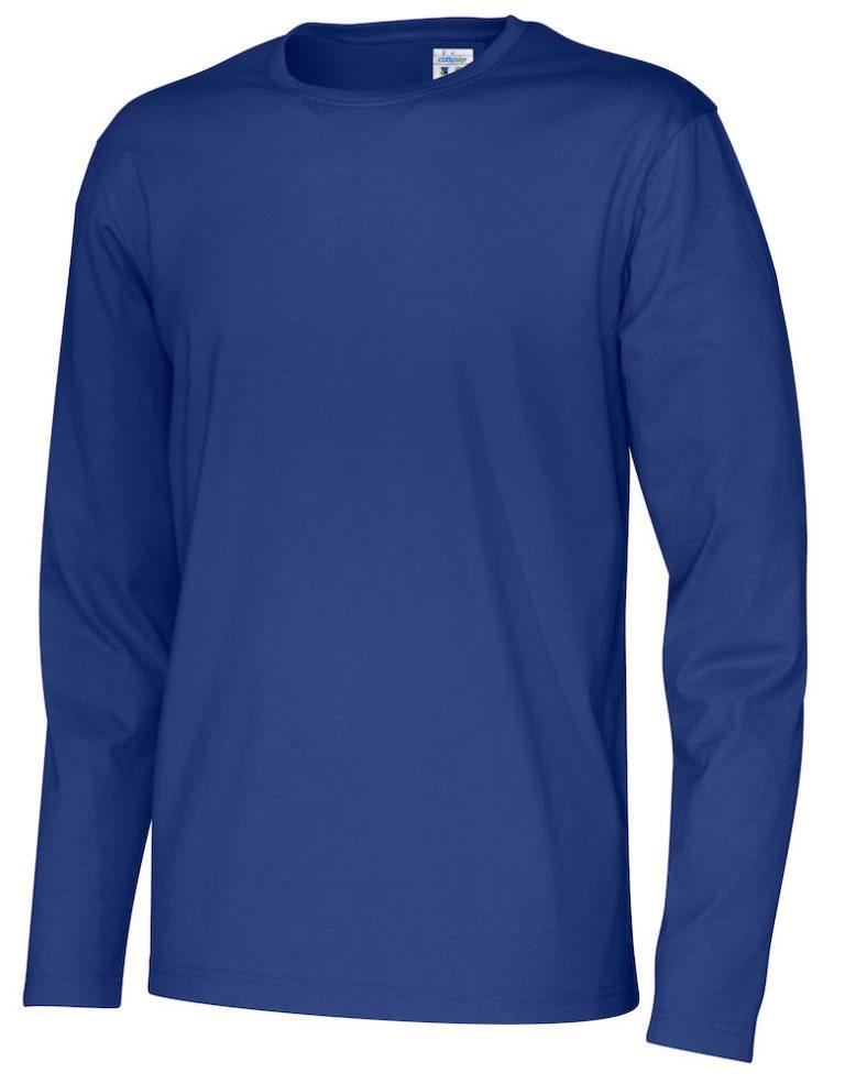 141020 CottoVer T-shirt Man lange mouw royal
