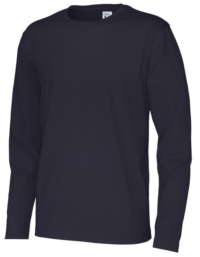 141020 CottoVer T-shirt Man lange mouw navy
