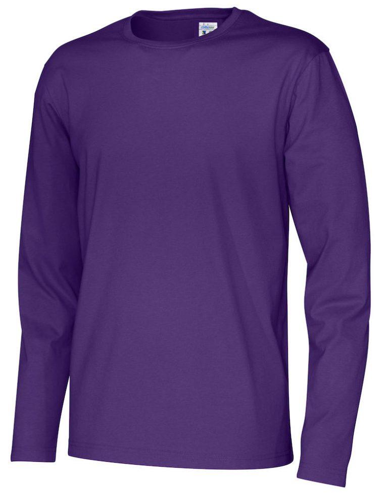 141020 CottoVer T-shirt Man lange mouw purple