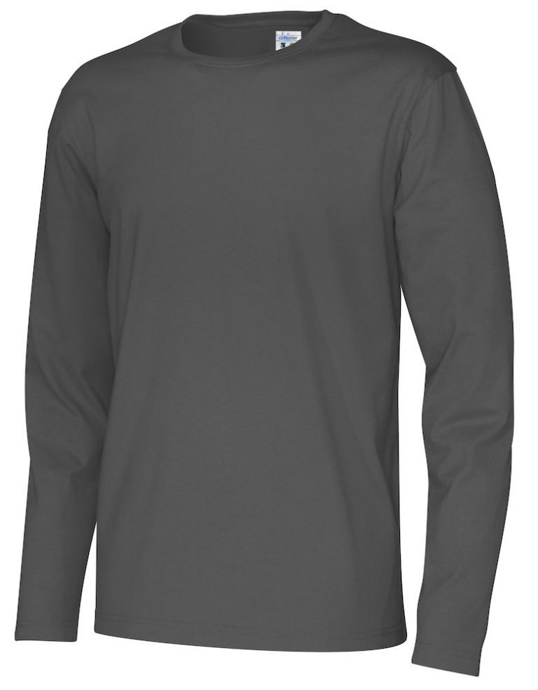 141020 CottoVer T-shirt Man lange mouw charcoal