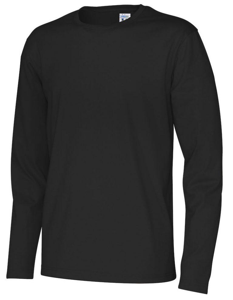 141020 CottoVer T-shirt Man lange mouw black