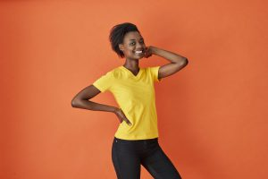 141021 CottoVer T-shirt Lady V-hals