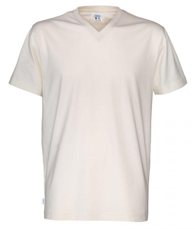 141022 CottoVer T-Shirt V-Hals Man off white