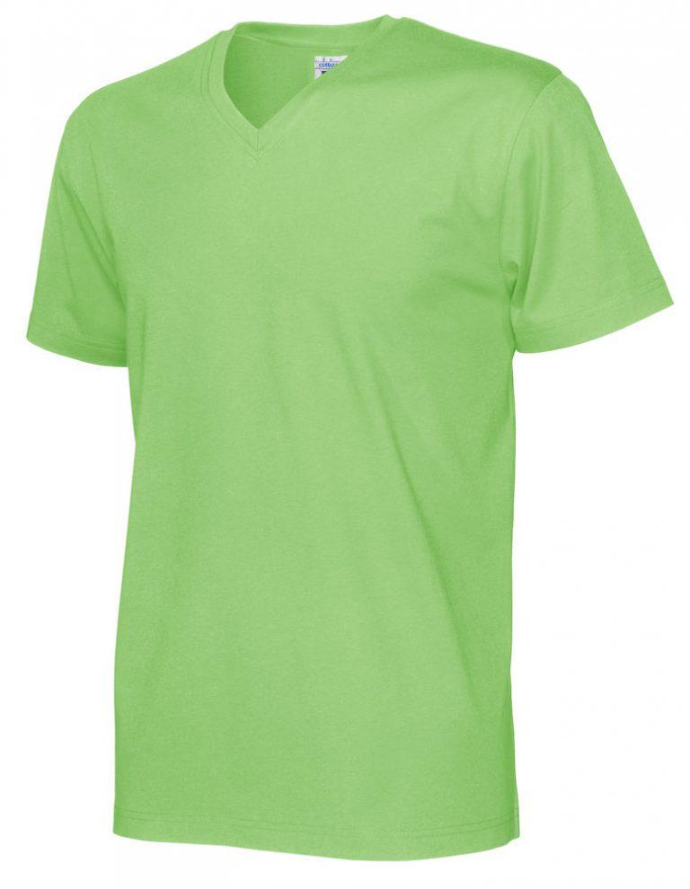 141022 CottoVer T-Shirt V-Hals Man green