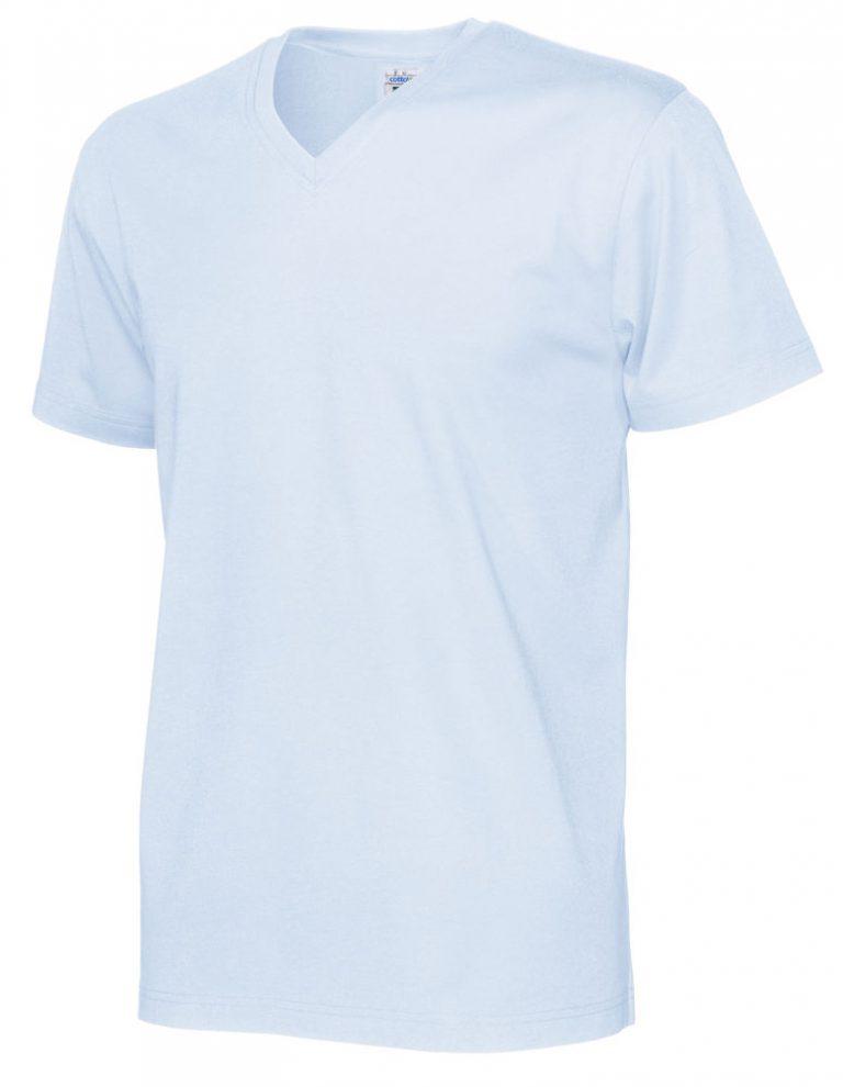 141022 CottoVer T-Shirt V-Hals Man sky blue