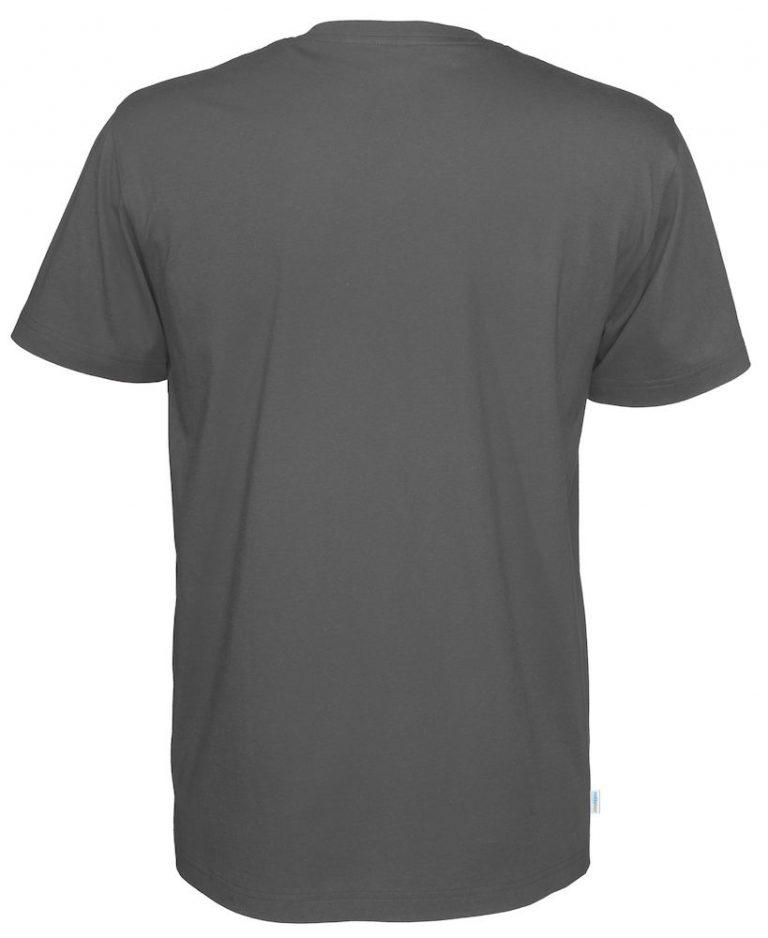 141022 CottoVer T-Shirt V-Hals Man charcoal