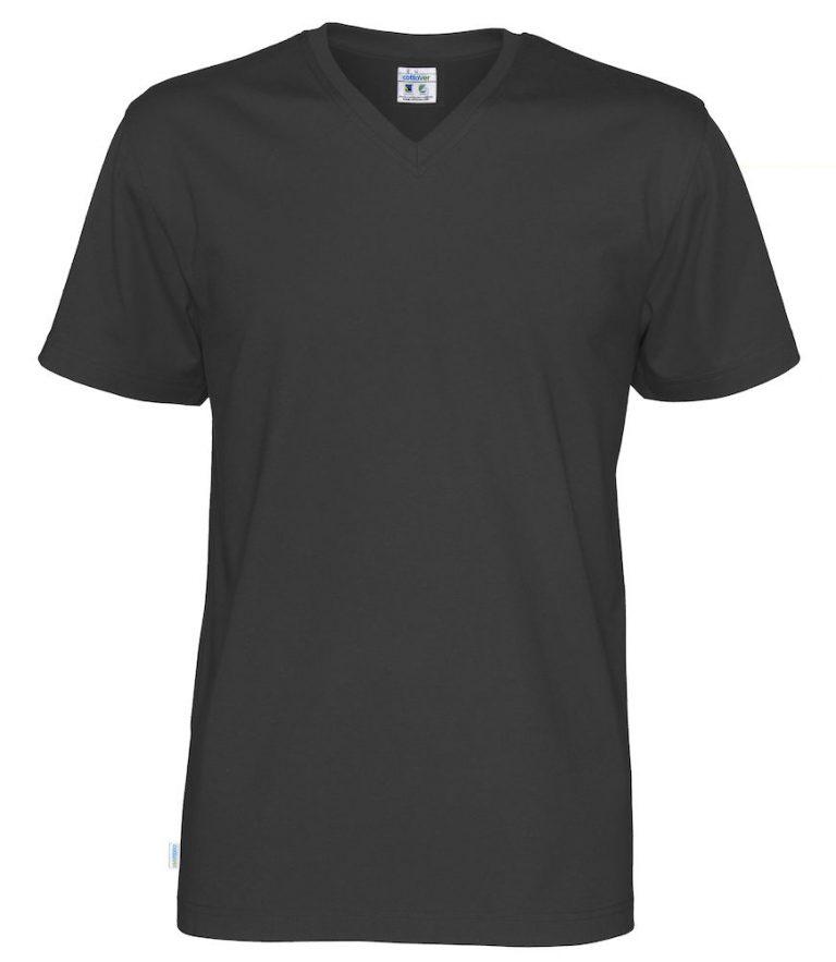 141022 CottoVer T-Shirt V-Hals Man navy