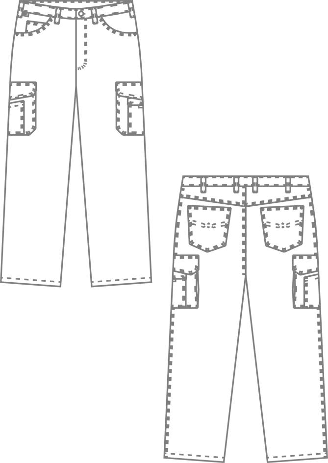 1658 werktekening witte jeans