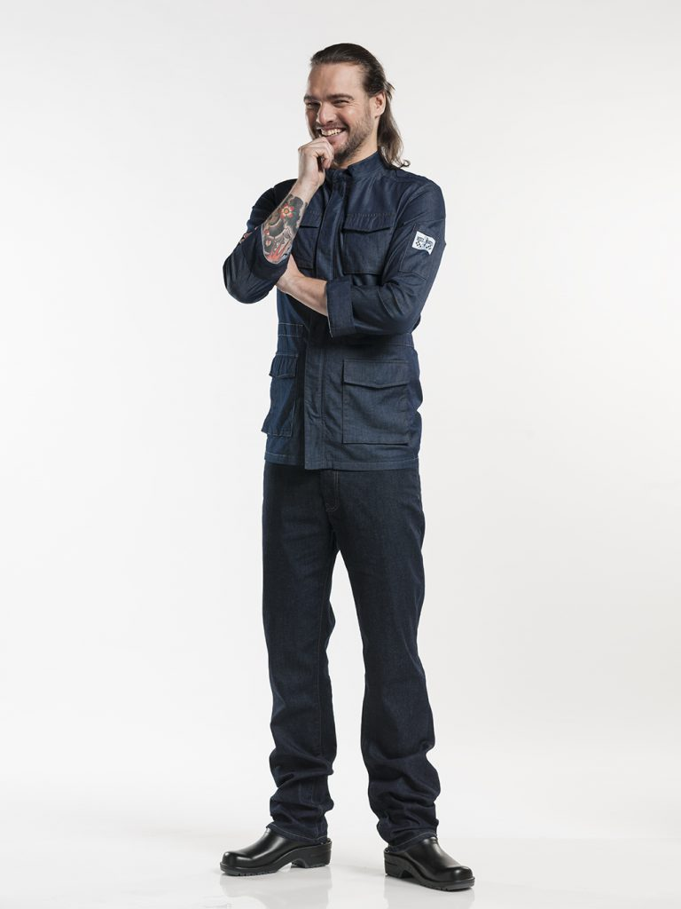 Jeans kokspantalon chaud devant
