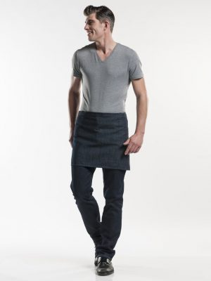 plain blue denim korte sloof Chaud Devant 489