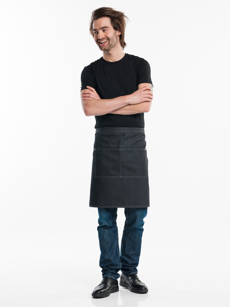 881 black denim 2-pocket sloof chaud devant