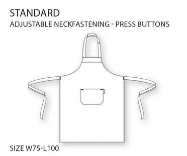 standard apron werktekening