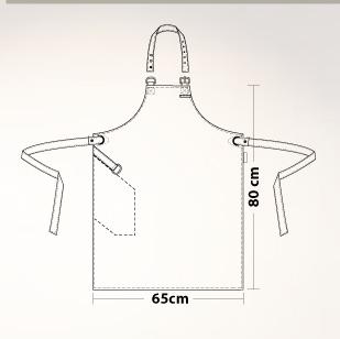 bib apron hide