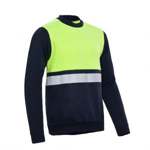 Helsinki Sweater Santino real navy/geel