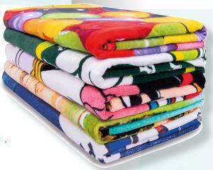 reactive printed handdoek