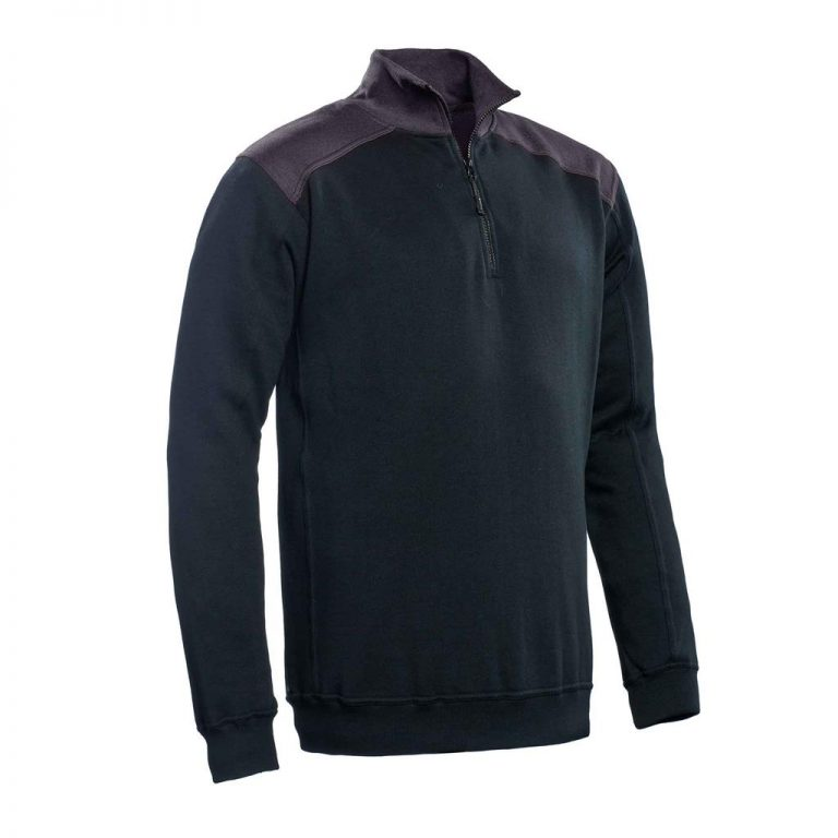 Tokyo Santino Zipsweater 2-Color-Line zwart/ graphite