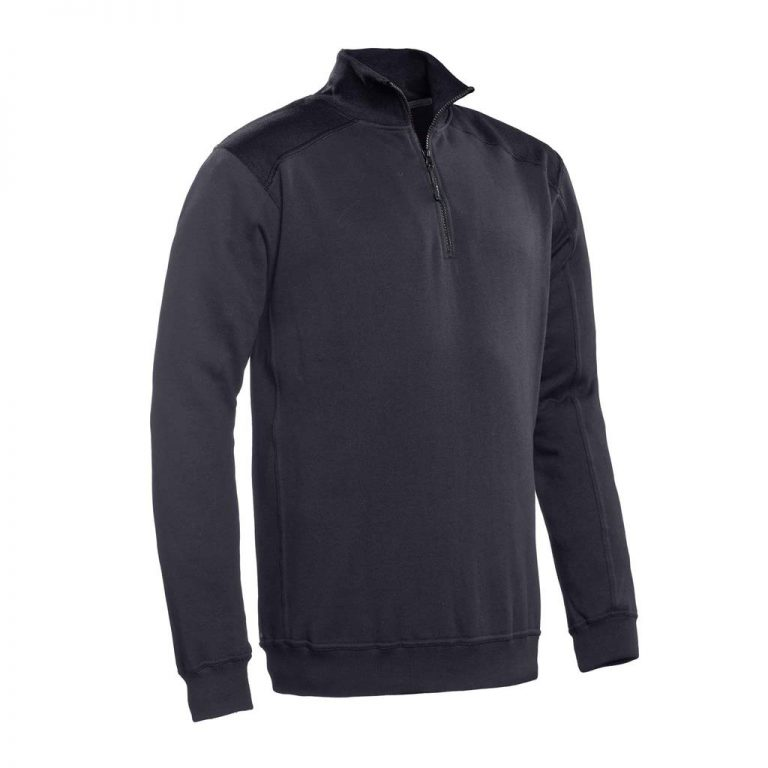 Tokyo Santino Zipsweater 2-Color-Line graphite/ zwart