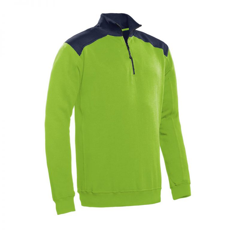 Tokyo Santino Zipsweater 2-Color-Line lime/ real navy
