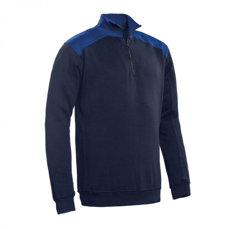 Tokyo Santino Zipsweater 2-Color-Line real navy/ royal blue