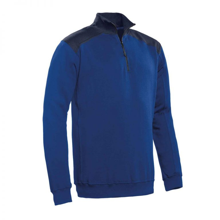 Tokyo Santino Zipsweater 2-Color-Line royal blue/real navy