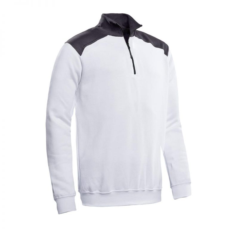 Tokyo Santino Zipsweater 2-Color-Line wit/graphite