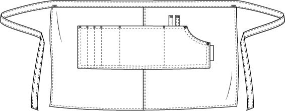 Multipocket sloof Chaud Devant