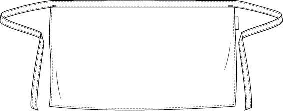 plain blue denim korte sloof Chaud Devant 489