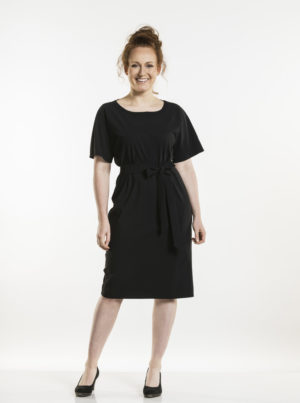 Dress Fennel Black Chaud Devant