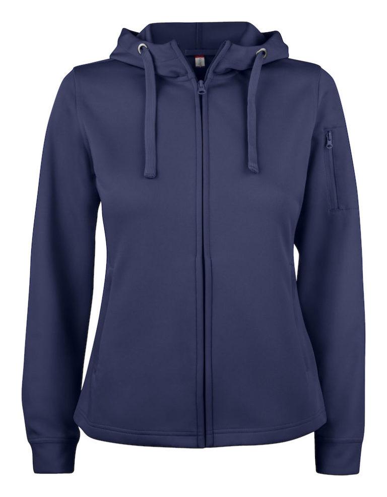Basic Active Hoody Full Zip Ladies Clique 580