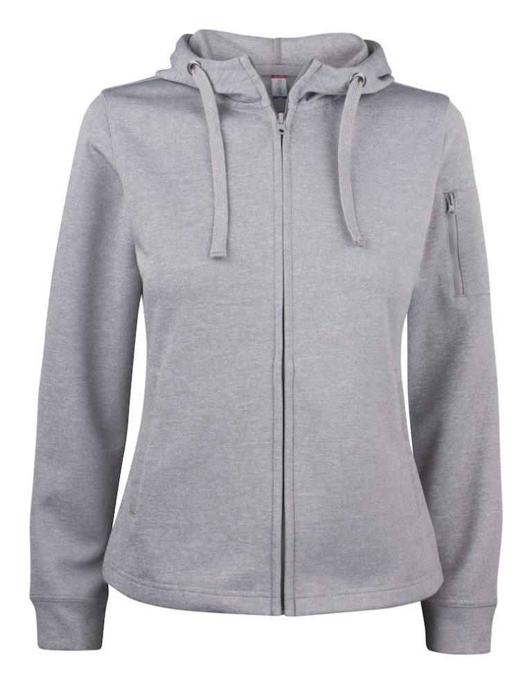 Basic Active Hoody Full Zip Ladies Clique 95