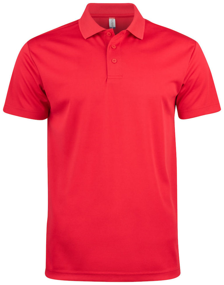 Basic Active polo Clique rood