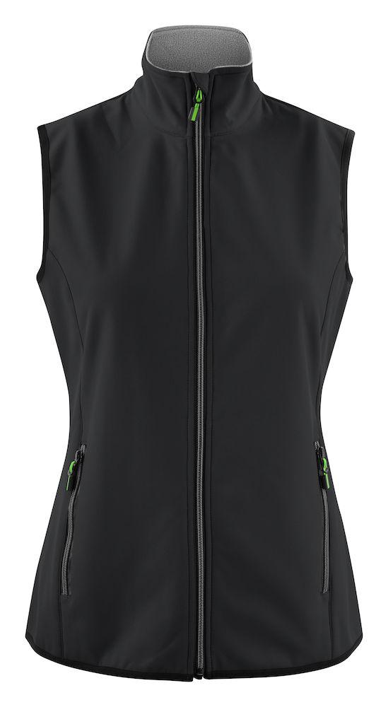 2261060 Softshell Vest Trial Lady 900 Zwart