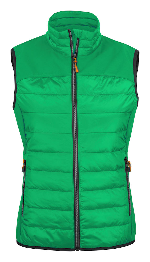 2261064 quilted vest EXPEDITION LADY-728 frisgroen