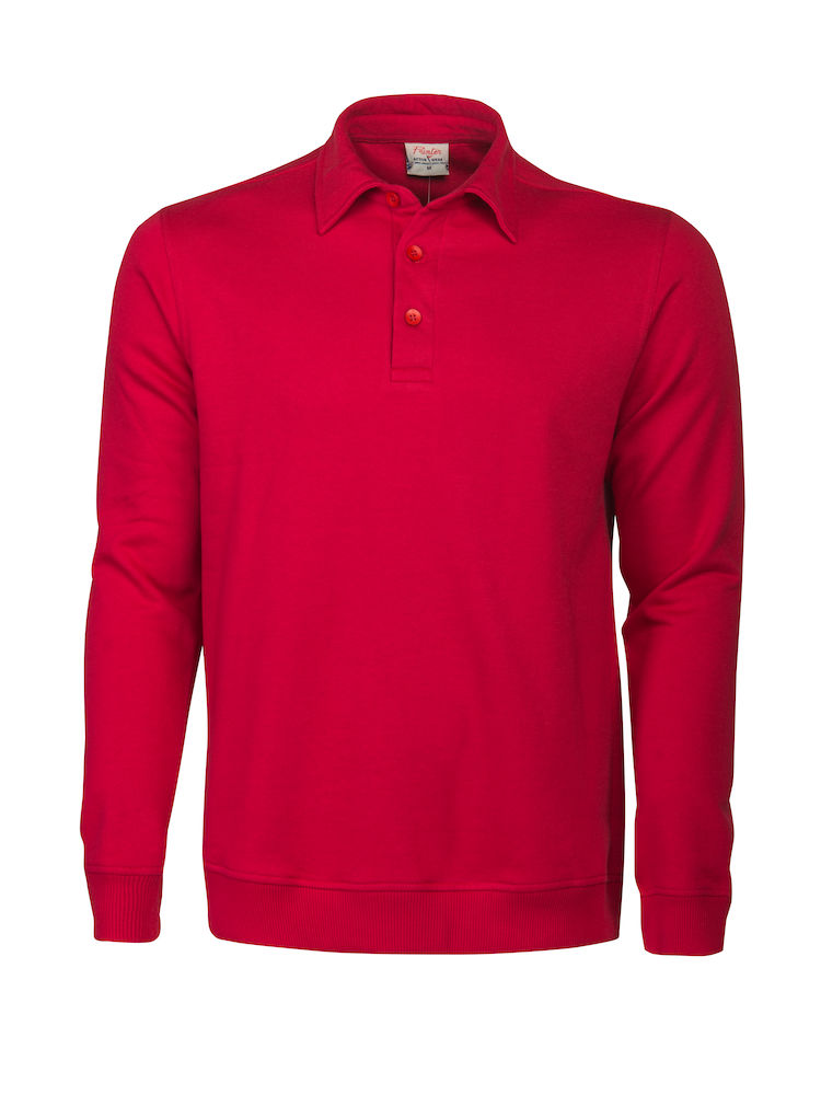2262040 Poloneck sweater HOMERUN 400 rood