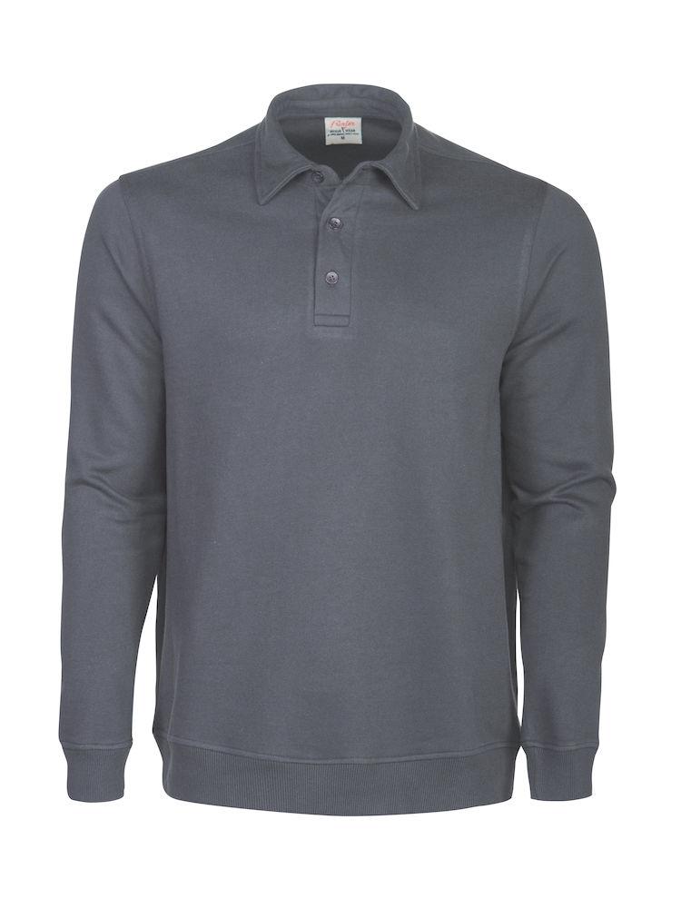 2262040 Poloneck sweater HOMERUN 935 staalgrijs