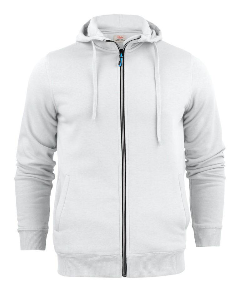 2262051 Hooded sweat jacket OVERHEAD 100 wit