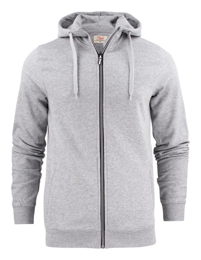 2262051 Hooded sweat jacket OVERHEAD 120 grey melange