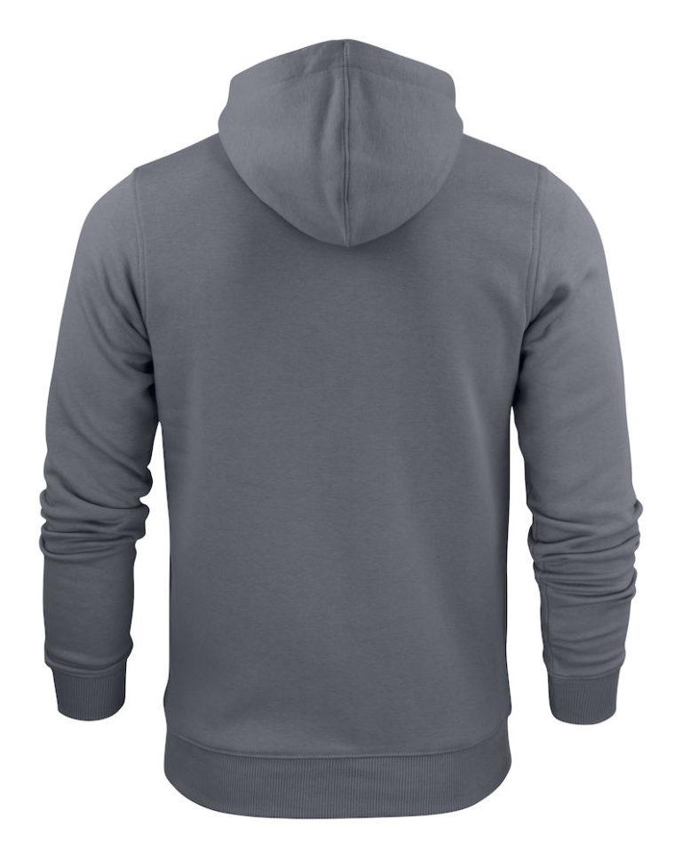 2262051 Hooded sweat jacket OVERHEAD 935 staalgrijs