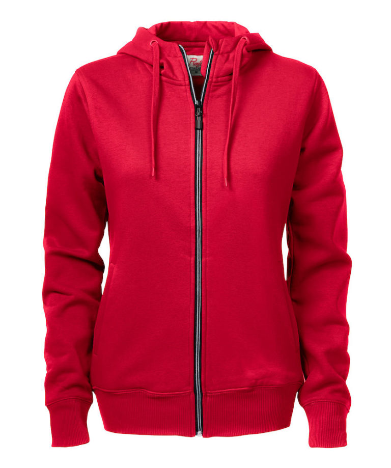 2262052 Hooded sweat jacket OVERHEAD LADY 400 Rood