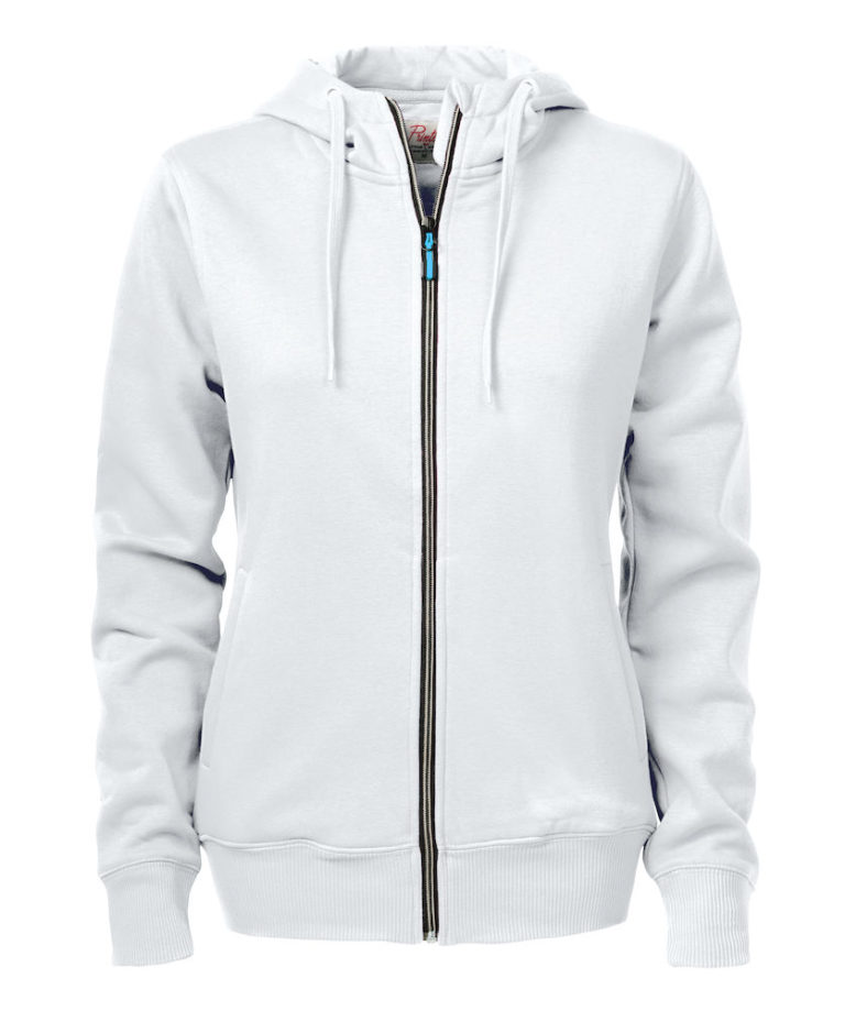 2262052 Hooded sweat jacket OVERHEAD LADY-100 wit