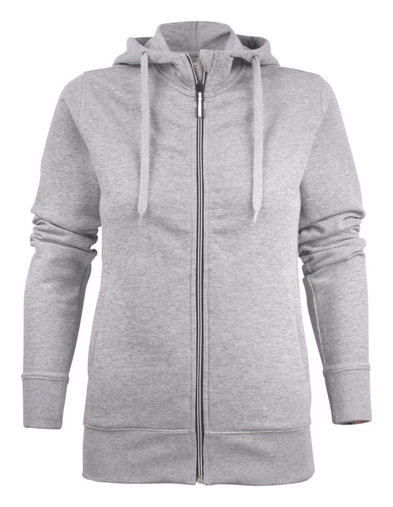 2262052 Hooded sweat jacket OVERHEAD LADY-120 grey melange